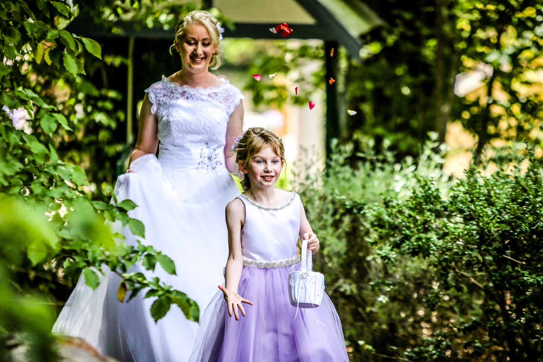 Bride and Flower Girl - Karen Brothers Photography Daylesford & Hepburn